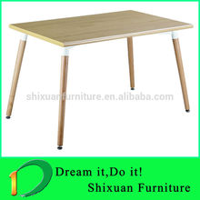 2014 modern cheap office wood dining table