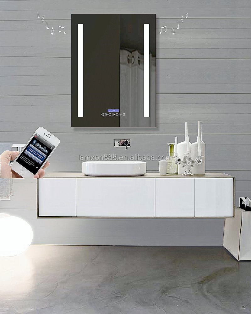 Best Selling Led Bathroom Mirror With Bluetooth And Fm Radio Function For Modern Hotel Bathroom
