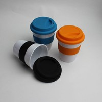 McDonald Walmart Sedex Audit Manufacture PP Food Grade Bpa Free Mini Coffee Cups Mugs With Sleeve And Lid Kids Plastic Rubber