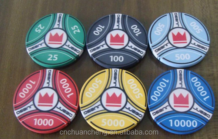 2016 China Wholesale Custom Precious Casino Poker Chips,10g ceramic chip poker chip,custom made ceramic poker chip manufacturer