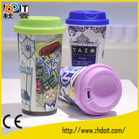 Wholesale white sublimation coated cup/sublimation thermo cup suitable for sublimation heat transfer