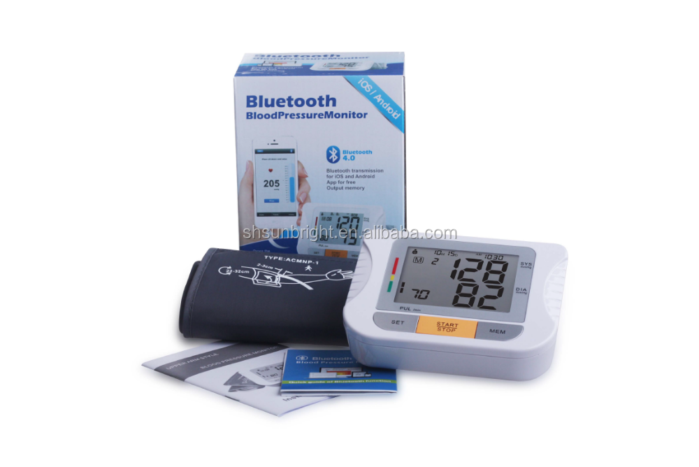 Sun-200LH with BT CE/FDA Approved Cheap bluetooth Digital Blood pressure monitor