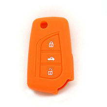 Replacement silicone car key cover key case shell Blank for Lexus