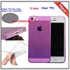 For iPhone 5 / 5S case Ultra Thin Transparent Crystal Clear TPU Case Cover