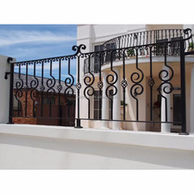 cheap price curved wrought iron stair railings