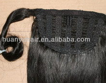 wrap ponytail clip in remy human hair extensions