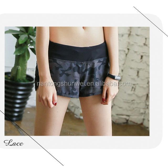 women fitness wear camouflage shorts yoga pants short pants
