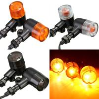 2 12V Motorcycle Turn Signal Indicators Amber Light Lamp E-mark DOT For Honda /Yamaha /Harley /Suzuki