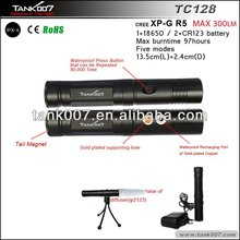 R5 LED rechargeable flashlight torch with tripod