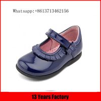 Purple genuine leather upper flat comfortable lace up children's shoes wholesale little girls soft sole baby shoes