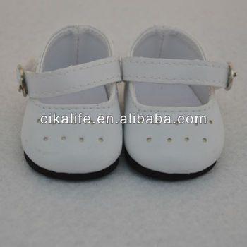 18 inch white bear shoes american white doll shoes