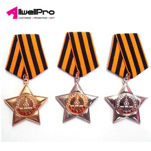 Custom-made metal badge prizes awarded to your staff