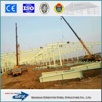 Prefabricated warehouse steel building tube truss steel structure