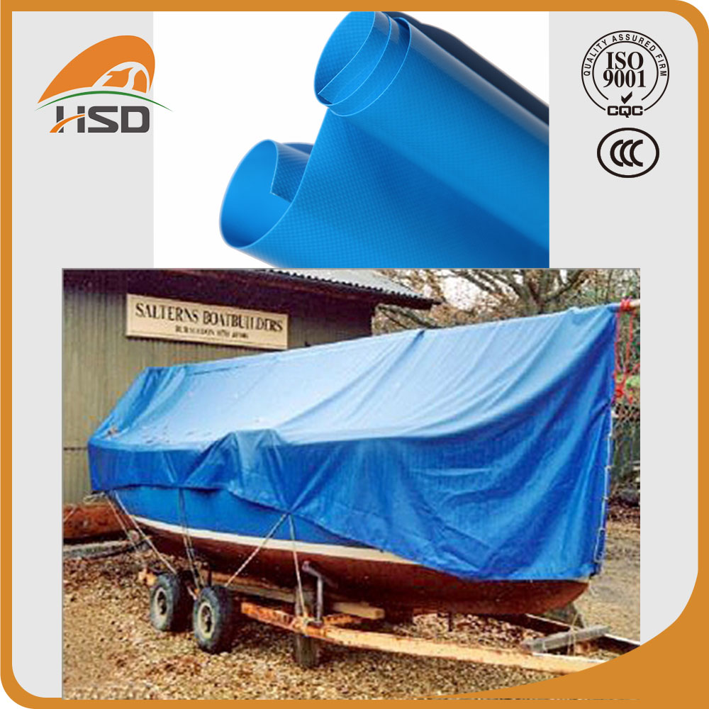 pvc coated canvas waterproof boat cover