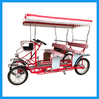 Adult pedal 4 wheel leisure bike for 4 persons