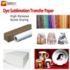 High release instant dry sublimation heat transfer paper for textiles