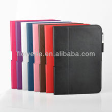 FL630 2013 Guangzhou hard case for samsung galaxy note 10.1 leather case stock market