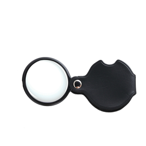 BJ61086 Hot sale High Quality & cheap Diamond Loupe / portable black magnifier with leather pouch