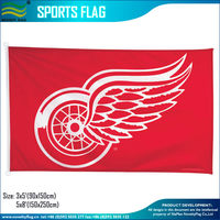 3*5ft Polyester NHL Detroit Red Wings Flag