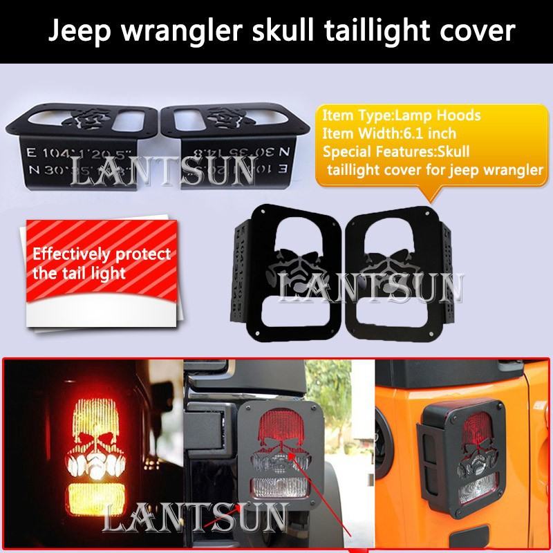 Rear Lamp covers for Jeep Wrangler Prevents scratching and rattles