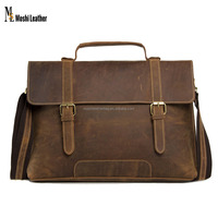 "China Wholesale 13"" Mens Leather Laptop Bag, Genuine Leather Bag, Leather Men Bags"