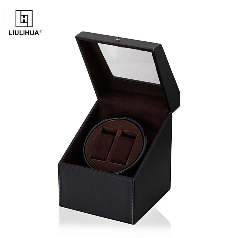 wholesale custom made High quality personalized luxury wrist solid wood Automatic Rotation watch box Men Storage Boxes
