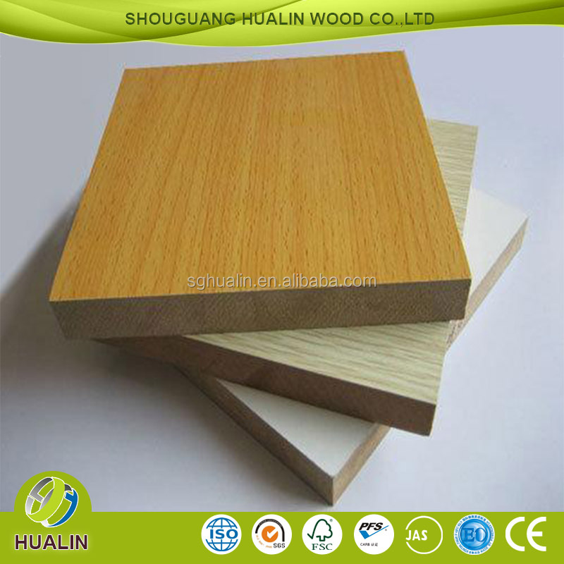 furniture grade beech color melamine embossed mdf panel