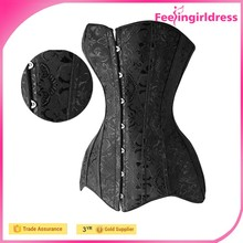 Long Black White Wholesale Waist Slimming Sexy Steampunk Corset