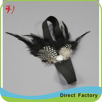 Fancy raw material hair accessories flapper feather headband