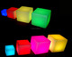PE Plastic Rechargeable LED RGB 16 colors Cube Outdoor Battery Powered Led Cube Light
