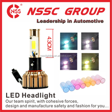 NSSC Wholesale Price Newest style car accessories IP67 2400LM bulb 12V 24V H4 Auto LED Headlight
