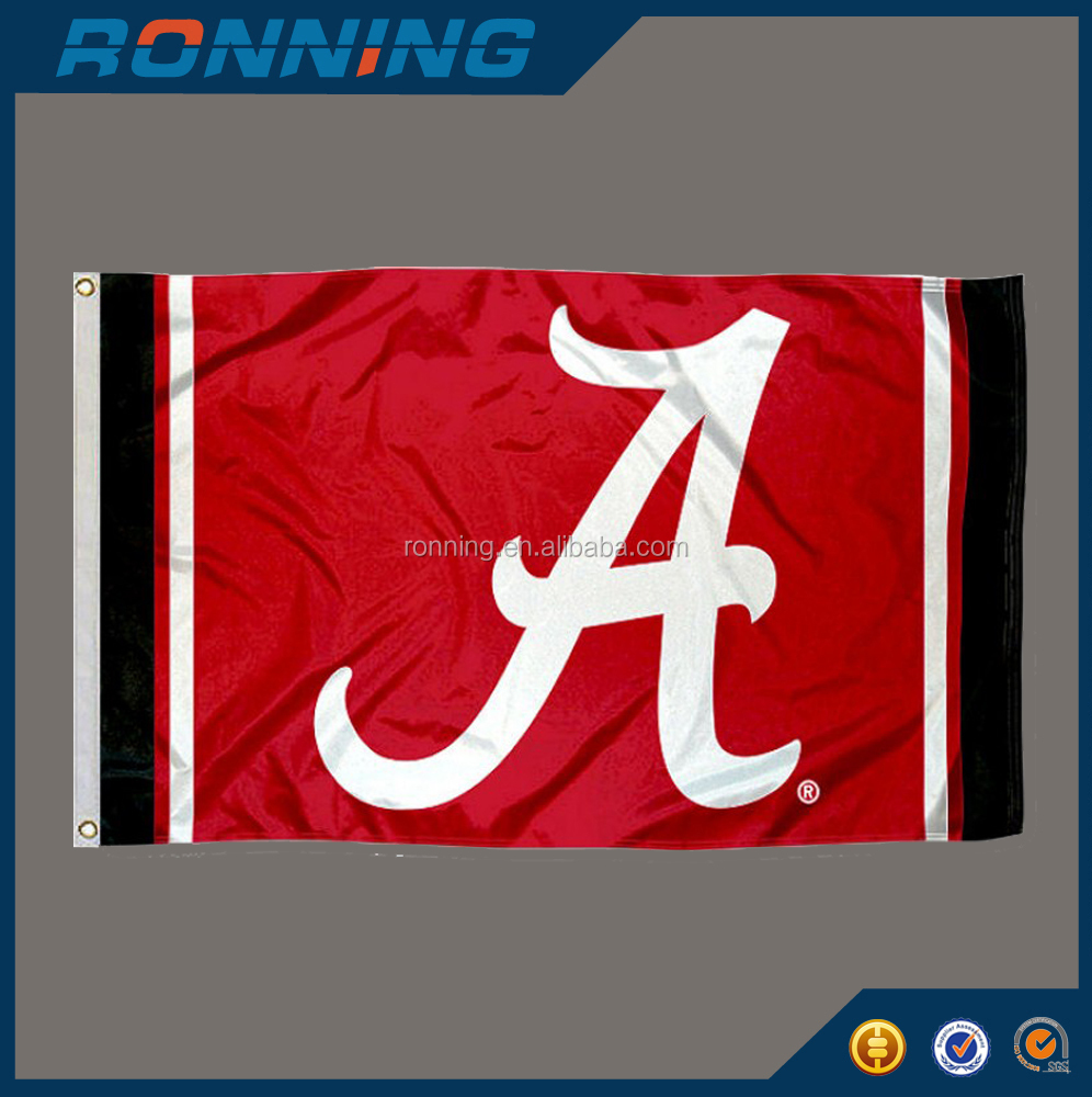 Free shipping 3x5ft Alabama Crimson Tide Jersey Stripes flag