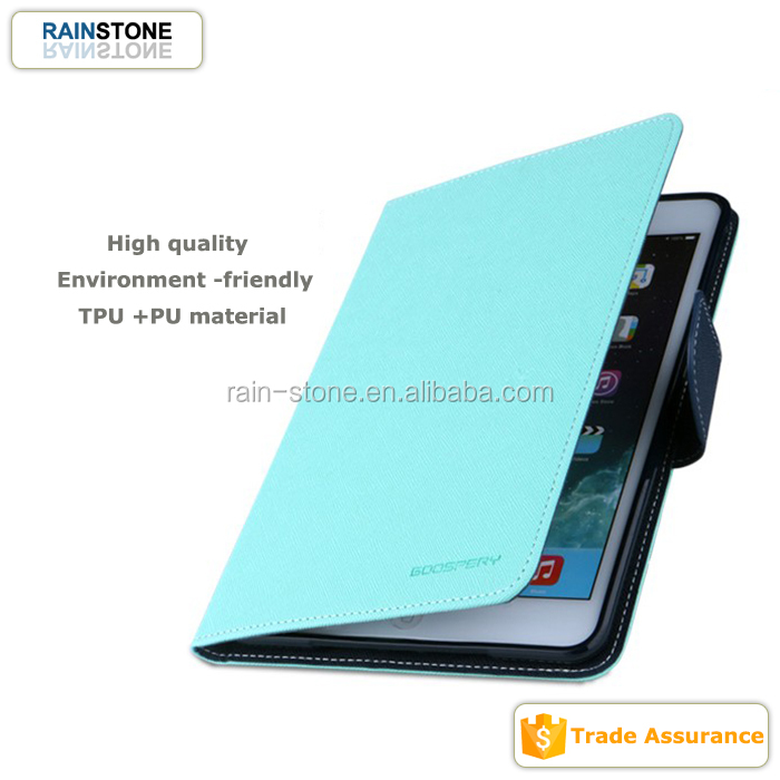 Tablet smart cover for iPad mini 2 folding flip case leather