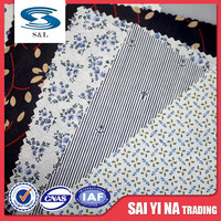 Custom 100% polyester dress static-free woven lining fabric cloth