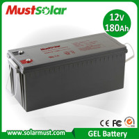 Factory Direct 12V 180Ah Gel Deep Cycle Battery for Solar Storage
