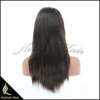 Cheap Light Yaki African American Wig Malaysian Virgin Remy Human Hair Yaki Straight Lace Front Wigs For Black Women