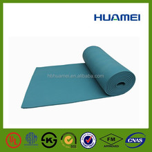 Low temperature rubber foam insulation sheet green color