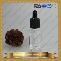 chinese glass bottles factory child proof 30ml e liquid clear french square bottles for e juice