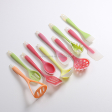 10pcs silicone kitchen utensil set and silicon kitchenware