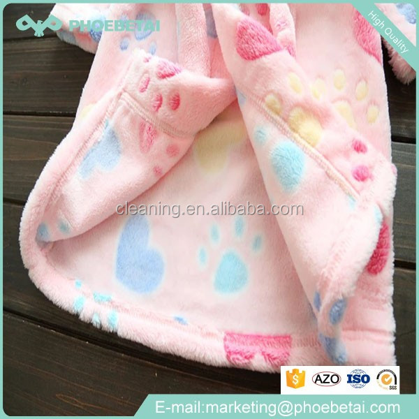 High quality disposable satin spa bathroom terry cloth kids robes China wholesale