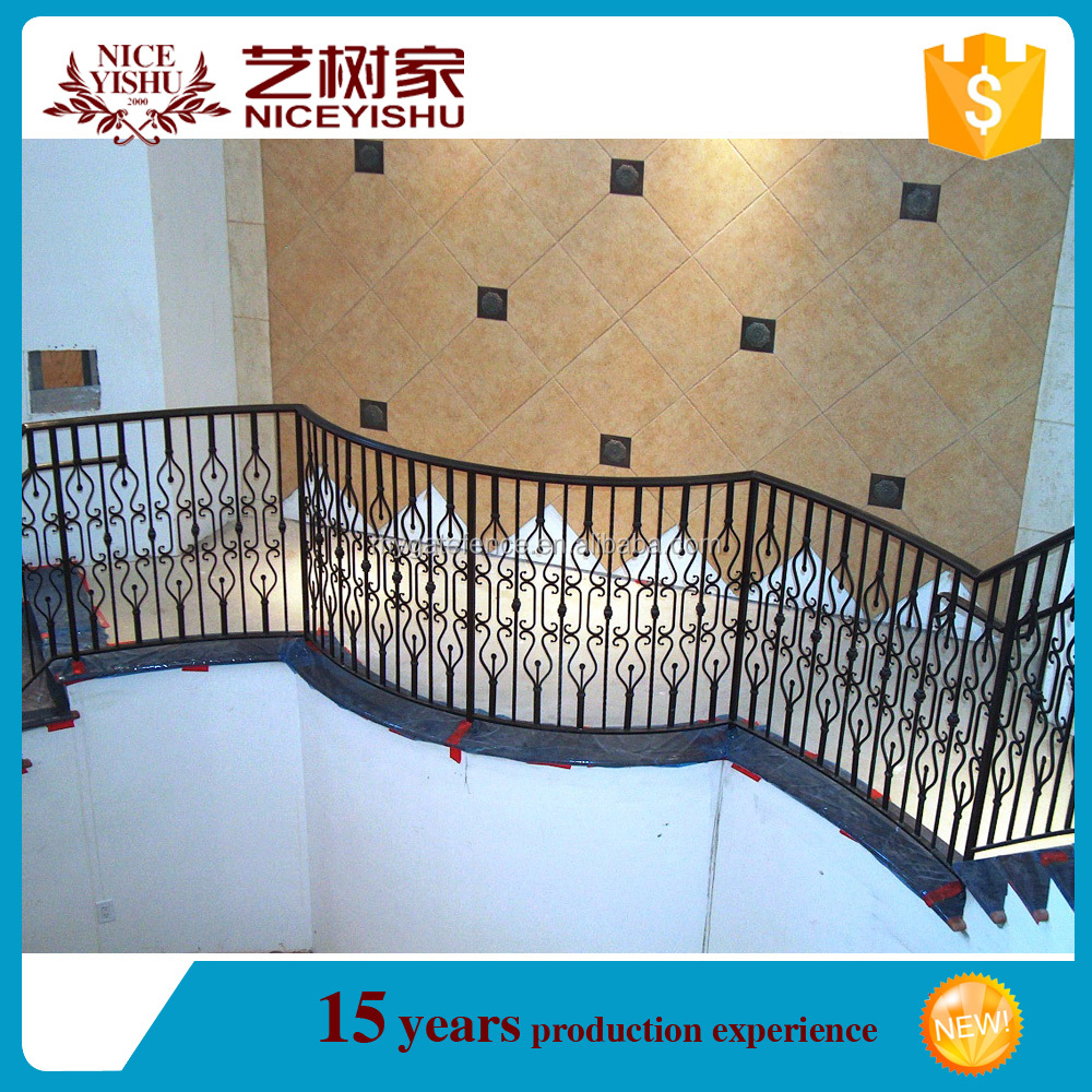 Factory customize indoor iron stair fence balcony iron for Indoor fence design