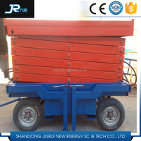 cheapest !!!Disel and Electric Engine Mobile Scissor Motorcycle Lift Platform 300kg-1000kg 4m-14m motorized lifting platform