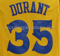 Golden State Kevin Durant #35 Yellow Stitched National Basketball Jerseys