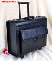 hairdressing Leather trolley Bag Satchel airline stewardess Lawyer Doctor Briefcase