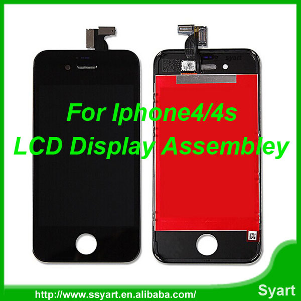 White& Black touch screen for iphone 4; Free Tools LCD Digitizer Full Assembly Screen Repair Glass Part For iPhone 4S 4GS
