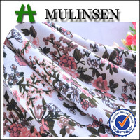 Mulinsen Textile Knit Single Jersey Floral Print Polyester Spandex Poly Spun Lycra Fabric Patterns Names for Flower Girl Dress