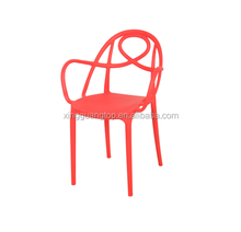 High Quality Wholesale Modern Colorful Living Room All Plastic Stackable Chair FL-1713