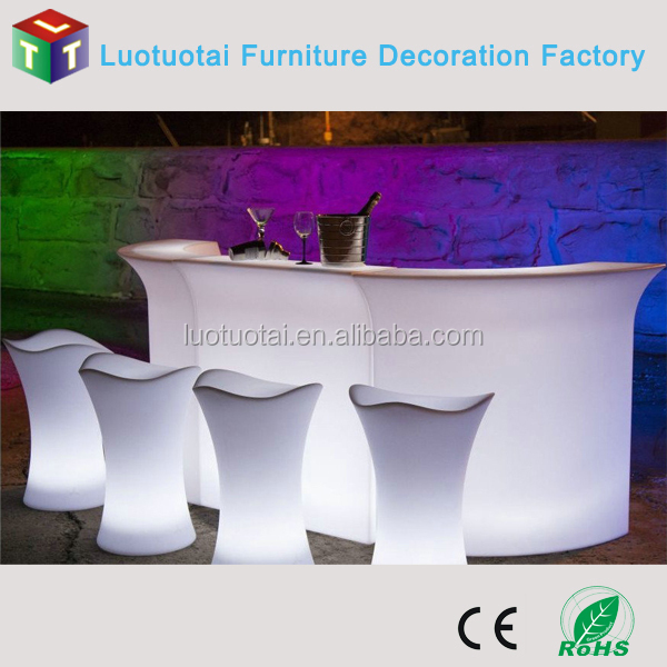 Glowing color change Night Club /Outdoor furniture /bar table /counter