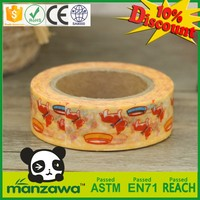 Multifunctional multifunction japanese rice paper tape no adhesive wrapping washi paper one side adhesive washi tape
