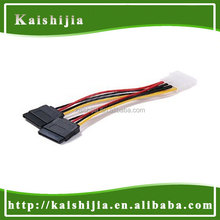 Good Quality Molex 4Pin to 2x 15Pin SATA Power Cable from Kai Shi Jia